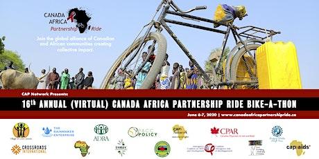 Canada Africa Partnership Ride (Virtual) Bike-a-thon tickets