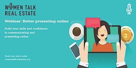 Webinar: Better presenting online tickets