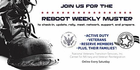 REBOOT Weekly Muster tickets