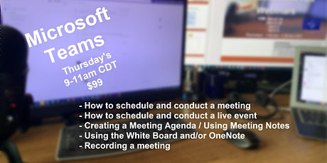 How to Conduct MS Teams Meetings & Live Events (2 hr instructor-led course) Tickets