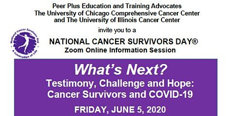 What's Next?  Testimony, Challenge and Hope:  Cancer Survivors and COVID-19 tickets