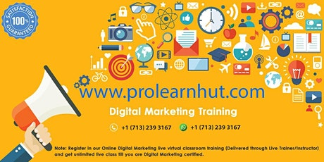 Online 2 Days Digital Marketing Live Virtual Classroom Training® in Huntsville, AL | ProlearnHUT tickets