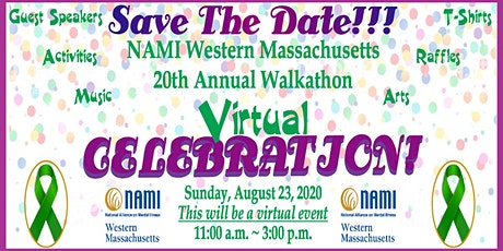 NAMI Western Massachusetts 20th Annual Walkathon Virtual Celebration! tickets