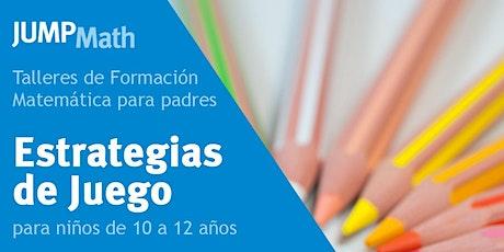 04.06 - 20:00 h Estrategias matemáticas para niños/as de 10 a 12 años entradas