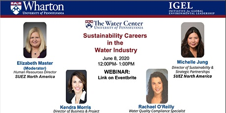 Webinar – Sustainability Careers in the Water Industry tickets