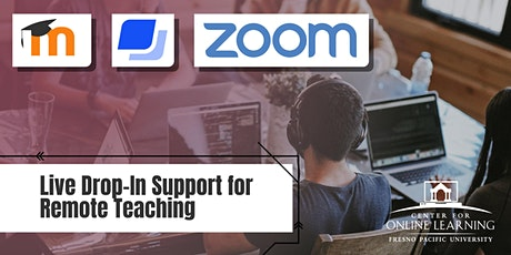LIVE Drop-In Support for Remote Teaching (Virtual) tickets