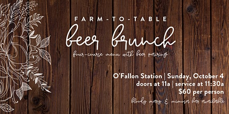 Farm to Table Beer Brunch tickets