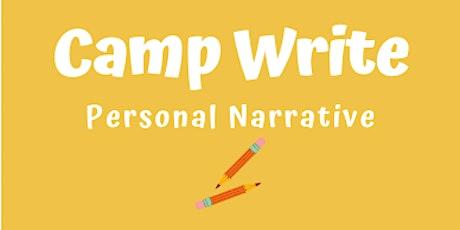 Camp Write tickets