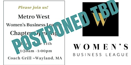 Women's Business League Metro West Chapter Launch tickets