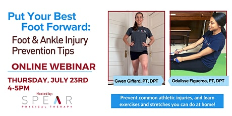 Put Your Best Foot Forward - Foot & Ankle Injury Prevention Tips tickets