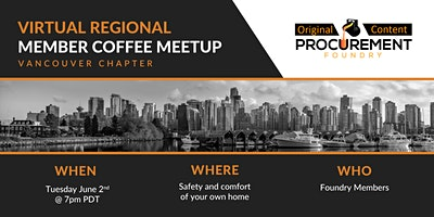 Virtual Member Meetup for Vancouver Chapter