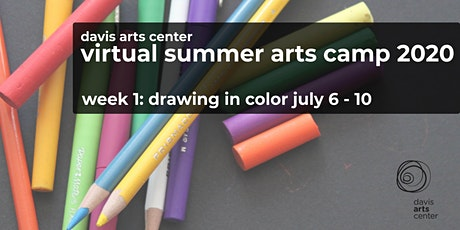Virtual Summer Arts Camp 2020  Week 1: Drawing in Color tickets