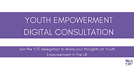Y20 Youth Empowerment Digital Consultations - Leadership (3) tickets