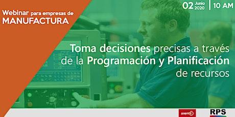 Planificación y Programación finita  en Producción entradas
