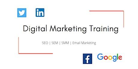 Digital Marketing Training for Beginners & Professionals | SEO, SEM & SMM tickets