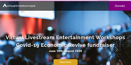 Livestream Entertainment Workshop covid-19 fundraiser tickets