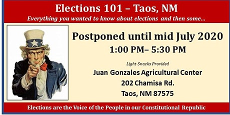 Elections 101 - Taos, NM tickets