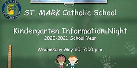 On-Demand: ST. MARK Kindergarten Information Night Zoom Session tickets