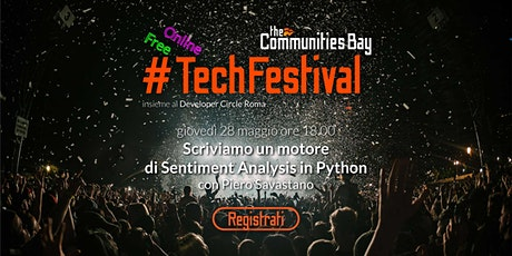 TechFestival – Scriviamo un motore di Sentiment Analysis in Python tickets