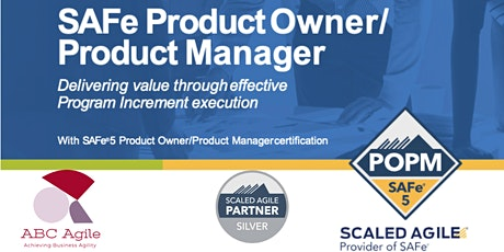 SAFe® Product Owner/Product Manager 5.0 (Prices are in SGD) tickets