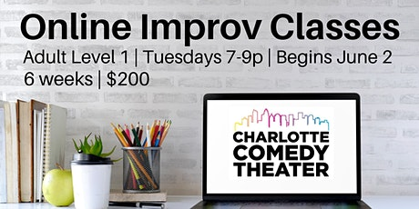 Online Improv Classes - Adult Level 1 tickets