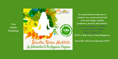Beyond Breath - An Introduction to Happiness Program tickets