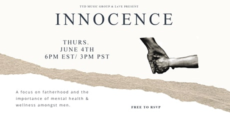 Innocence: Fatherhood & mental health amongst men tickets