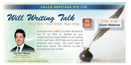 Will Writing Talk - Your Will, Your Wish, Your Way (25 June) tickets