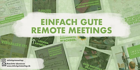 einfach gute remote Meetings - der Workshop Tickets