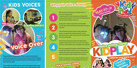 KID PLAY - Voice Acting Camp - Voice Acting for Kids and Teens Webinar tickets