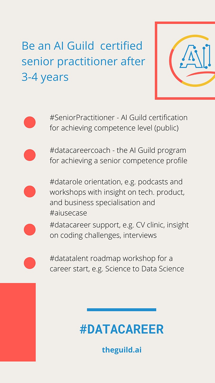 Career coaching for AI Guild members (1st and 2nd role as practitioner) image