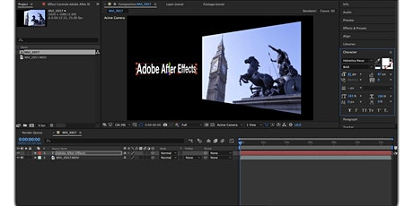 Adobe After Effects Intermediate Training tickets