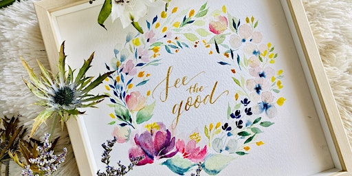 2-in-1 Floral Watercolour x Brush Calligraphy