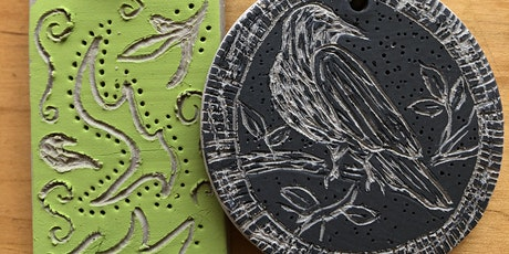CURBSIDE CRAFT - Sgraffito Pendant tickets