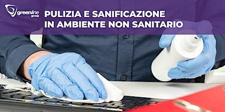 Pulizie e sanificazioni in ambienti non sanitari  biglietti