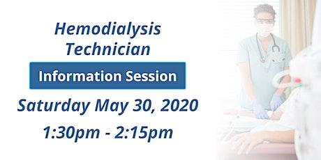 BMCC's Hemodialysis Technician Virtual Information Session Tickets