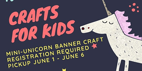 Crafts for Kids: Mini-Unicorn Banner tickets