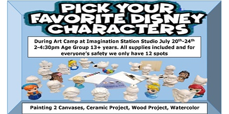 Who's Your Favorite Disney Character Art Camp, Age Group 13+ tickets