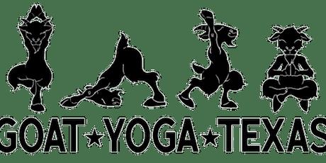 Goat Yoga Texas - Sun, June 7 @ 10:30AM tickets