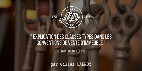 Formation by MDi  #3 - Clauses types : conventions de vente d'immeuble tickets