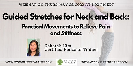 [Webinar] Guided Stretches for Neck & Back: Movements for Pain/Stiffness tickets