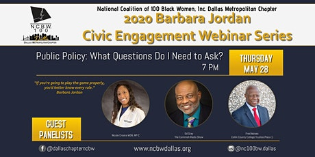 Barbara Jordan Civic Engagement Series - What Questions Do I Need to Ask? tickets