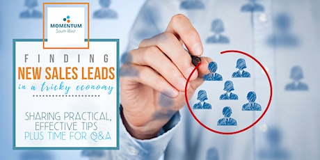 Finding new sales leads in a tricky economy - live webinar tickets