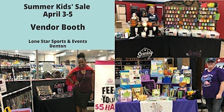 Vendor Booth at Huge Kids' Sale July 18 tickets