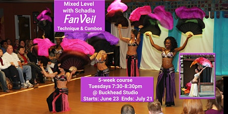 Fan Veil - Technique and Combos (Mixed level belly dance) tickets