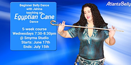 Egyptian Cane Dance - Beginner Belly Dance with Jahina tickets