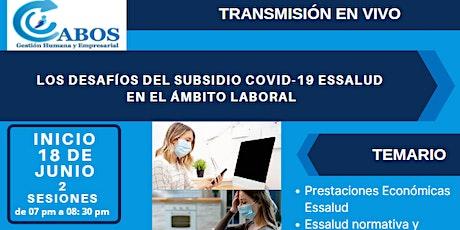 LOS DESAFÍOS DEL SUBSIDIOCOVID-19 ESSALUD  EN EL ÁMBITO LABORAL tickets