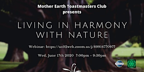 Living In Harmony With Nature tickets