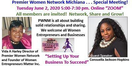 PREMIER WOMEN NETWORK MICHIANA  SPECIAL MEETING tickets