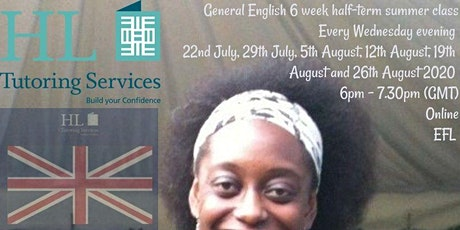 Online General English Adult Group Class (ESOL/ EFL) X 6  Weds 18.00-19.30 tickets